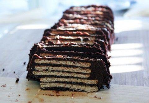 tarta de galletas chocolate