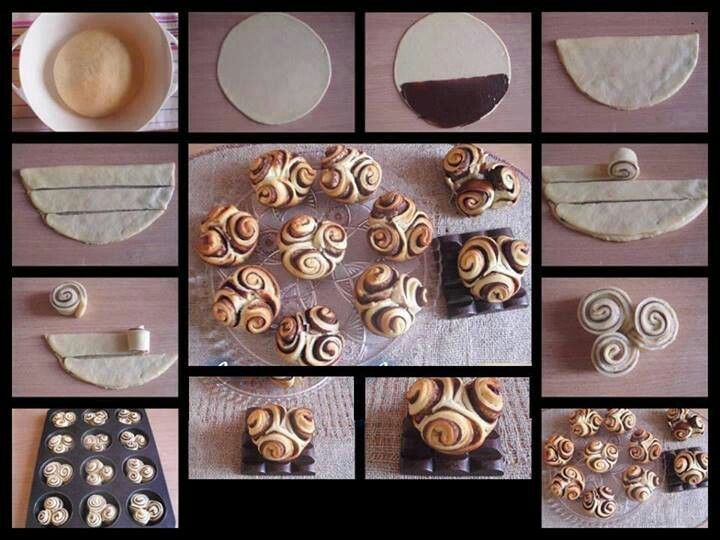 Roselline di pasta sfoglia e nutella
