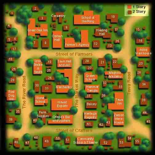 Rpg Town Map Rpg Village Map Invitation Maps