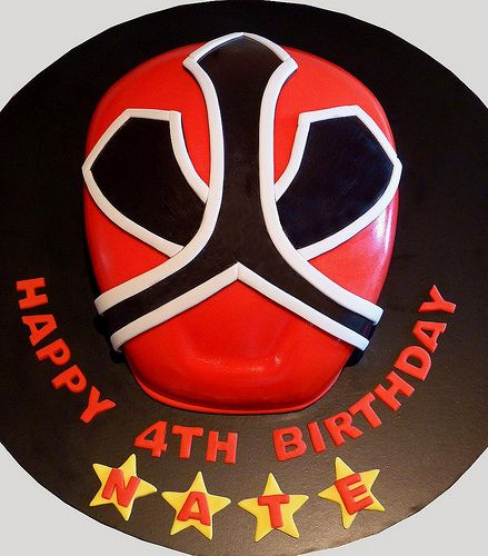 POWER RANGER CAKE... I have to stop asking the kids what kind of cakes they want