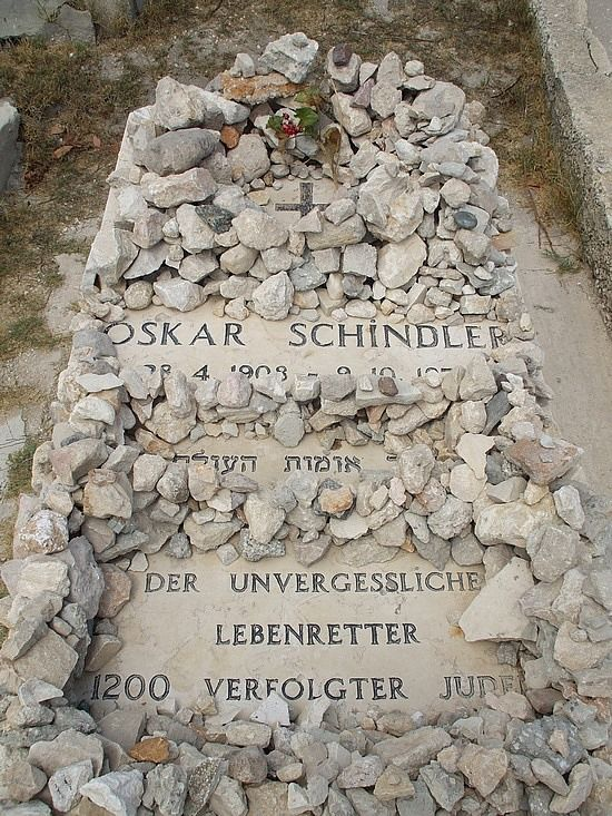 Oskar Schindler Grave - Real life (but posted in movies for its relations). I find this story so so sad, but a show of true courage, kindness, and inspirational actions