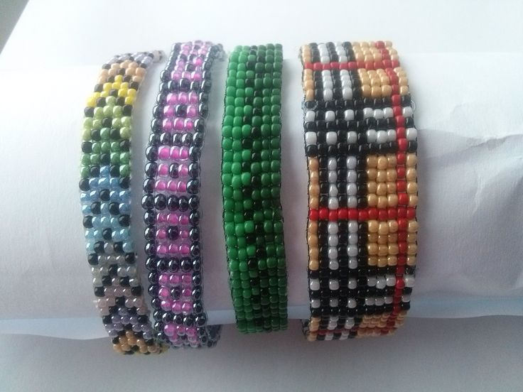 Beaded on loom bracelets