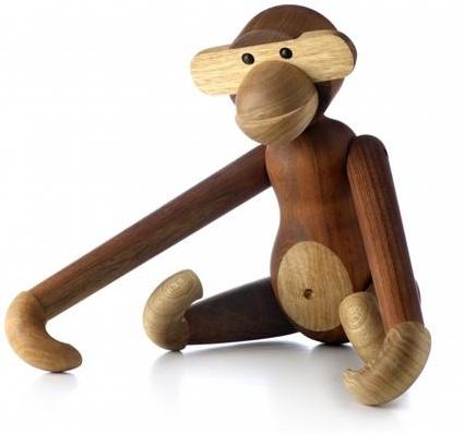Kay Bojesen abe. Klassiske og charmerende trædyr fra en ægte dansk designer.