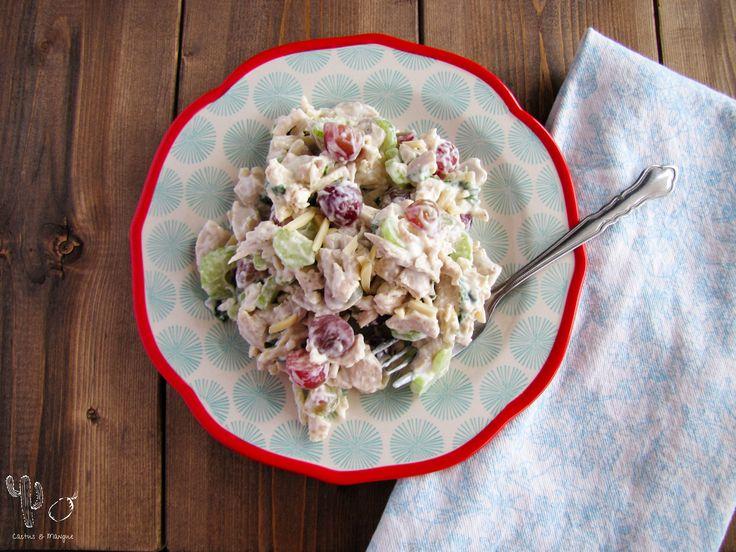 Salade de poulet amandes et raisins