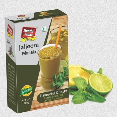 "The spice mix used to flavor this drink is also known as Jal-jeera powder. In Hindi, ""jal"" means water and ""jeera"" means cumin. The beverage form is essentially lemonade and jaljira powder, and is a popular summer drink in India. It is sometimes served as an appetizer, as it is intended to ""startle"" the taste buds."