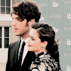 Tom Hughes and Jenna Coleman play Prince Albert and Queen Victoria.