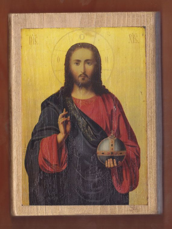 Christ Blessing Pantocrator. FREE SHIPPING by teogonia on Etsy