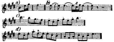 The Waldvogel (Woodbird) Leitmotive from Wagner's Siegfried.