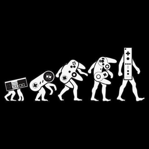 Nintendo evolution  #videogameparty #NOLA Shouldn't the Wii be a chimpanzee?