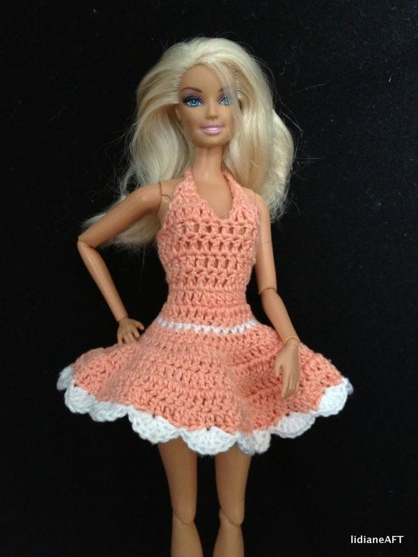 Croche /Vestidinho para barbie 2/1- LiiArt