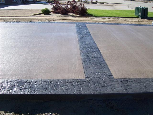 Black Stamped Concrete Patio