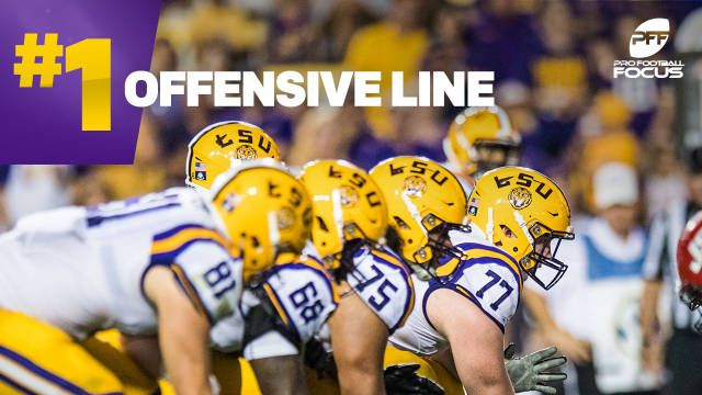 LSU had the No. 1 rated offensive line in the country according to Pro Football Focus