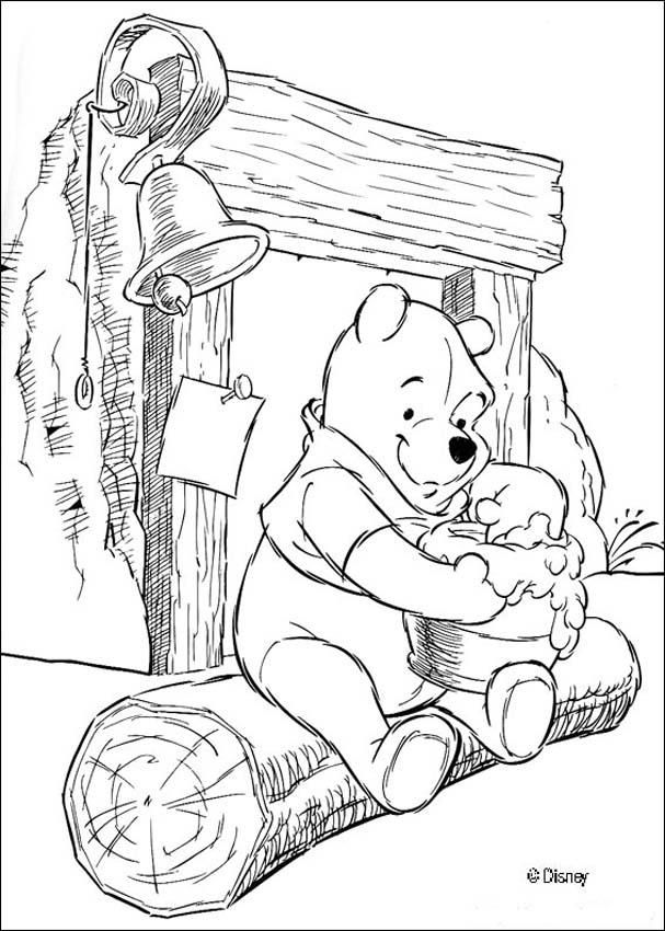 care bears coloring pages to print winnie the pooh printable coloring pages - Pooh Bear Coloring Pages Print