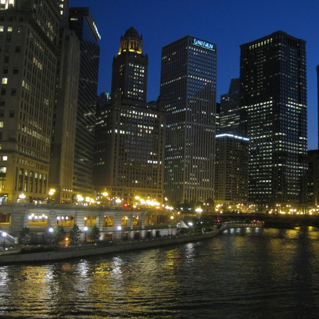 Chicago at night in the summerFavorite Places