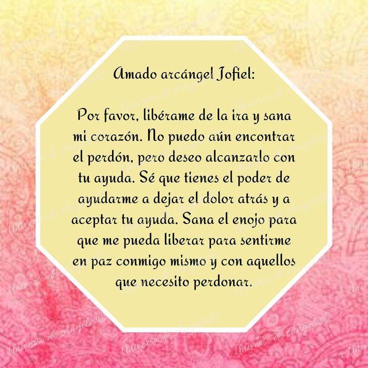 EL ARCÁNGEL JOFIEL… SANAR EL CORAZÓN A TRAVÉS DEL PERDÓN  El arcángel Jofiel es el líder de los querubines. Si tienes problemas para perdonar y no sabes cómo puedes lograrlo, invoca a Jofiel. Él ayuda a sanar, incluso los corazones más enojados. Posee el poder de sanar y resolver cualquier problema para que puedas amarte y amar a los demás para experimentar la libertad del perdón.  Con amor,  #UniversoDeAngeles