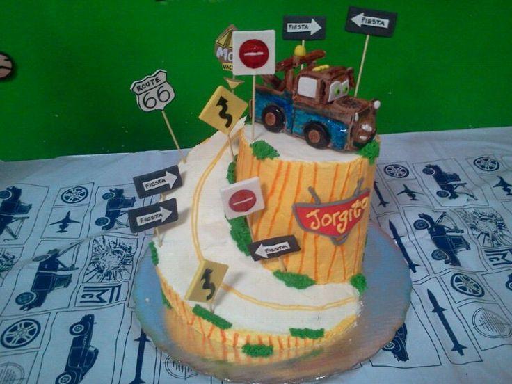 Pastel de cumpleaños cars