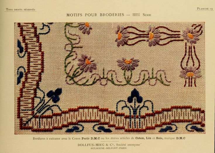 Motifs pour broderies. (IIIme série) No. 19