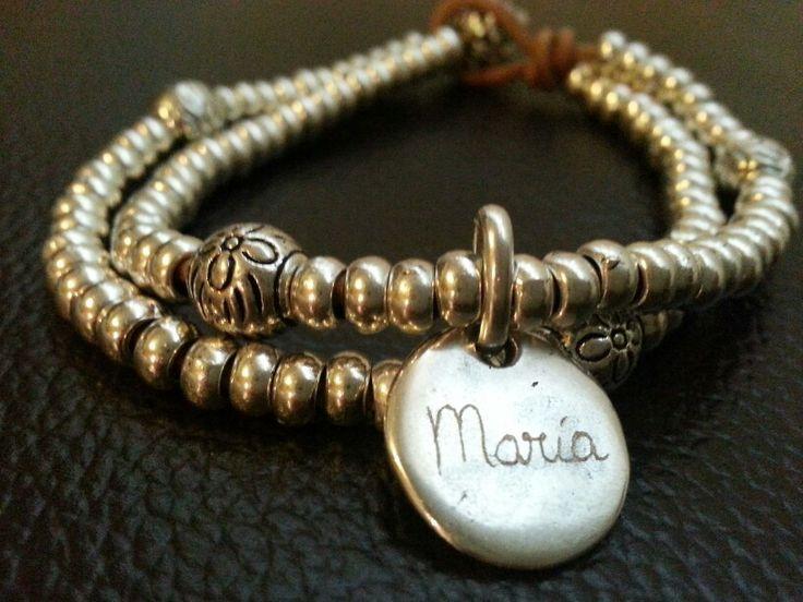 Pulsera personalizada para María #pulsera #pulserapersonalizada #bisuteria