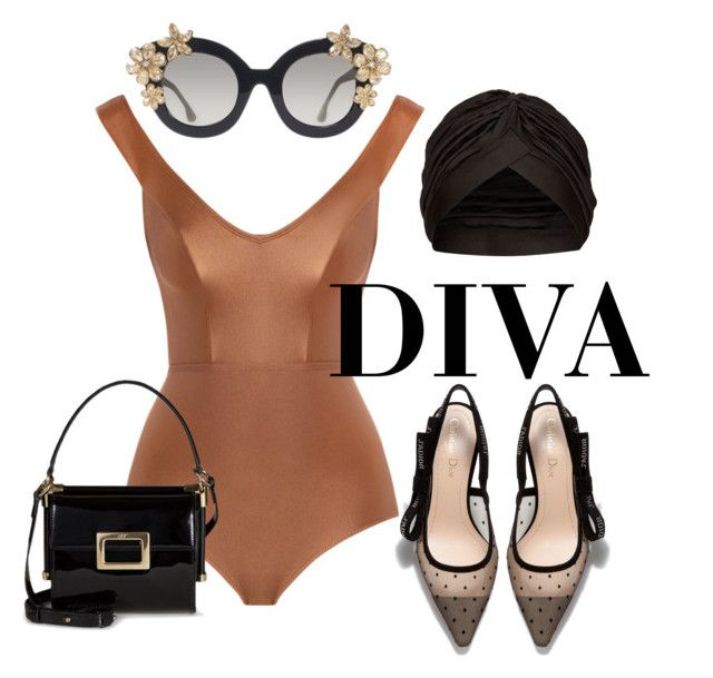 Diva style by illetilmote on Polyvore featuring Zimmermann, Roger Vivier, Alice + Olivia and Topshop