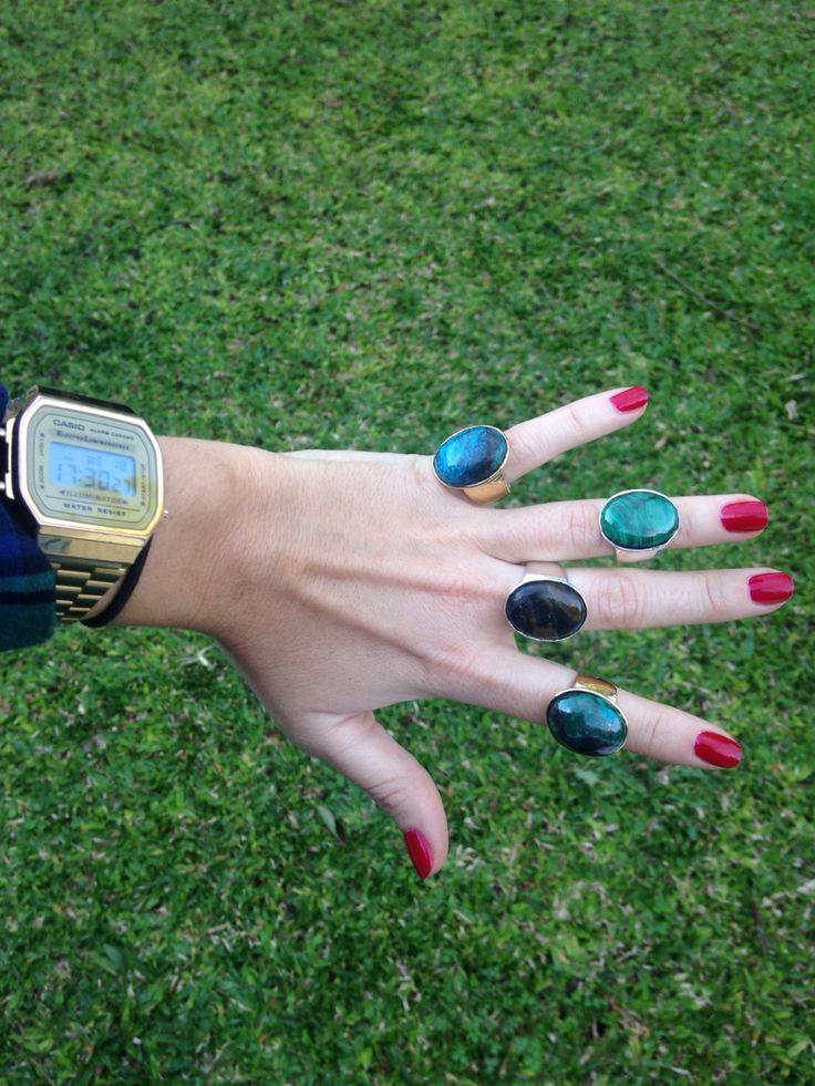 Mas anillos #anillos #piedras #rings #stone #silver #diseño