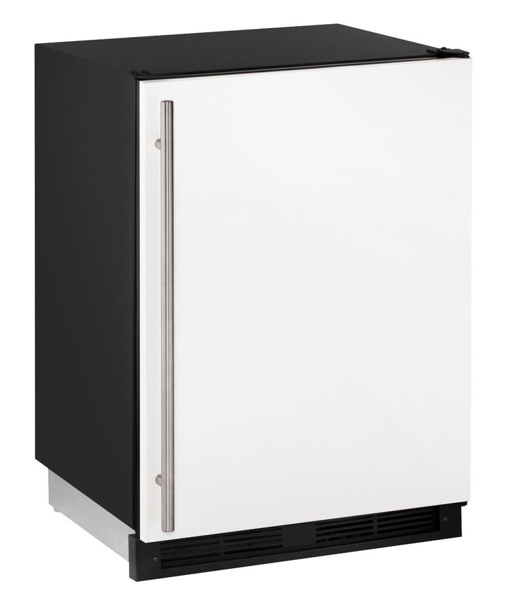 "U-Line UCO1224FW00A 24"" Combo Series Built In Compact Beverage Center in White"