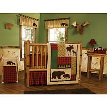 I just found my future son's nursery bedding! I need this! Trend Lab Northwoods 6-Piece Crib Bedding Set