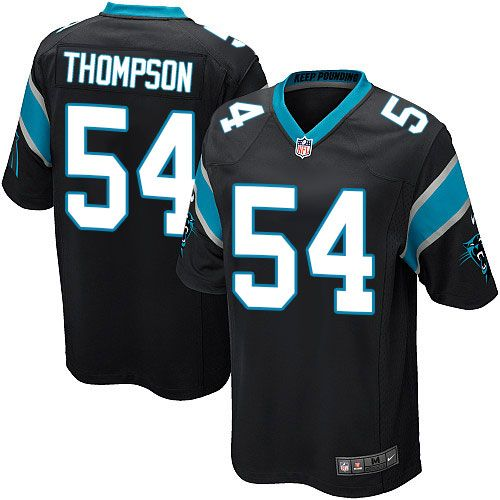 Nike Game Shaq Thompson Black Youth Jersey - Carolina Panthers #54 NFL Home