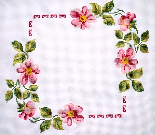 *flowers --- cross-stitch*