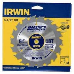 "Irwin Marathon 14027 5-1/2"""" 18T Framing/Ripping Cordless Circular Saw Blade"