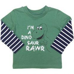 Dinosaur Rawr long sleeve t-shirt.  Sizes 0, 1 & 2.
