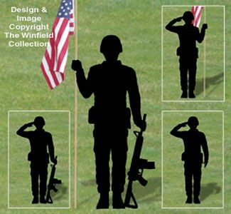 Military Men Shadow Patterns New Honor The Hard Working