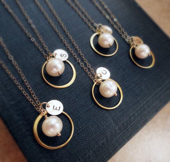 Personalized Bridesmaid gifts Set of 10: Ten Gold par OtisBWeddings