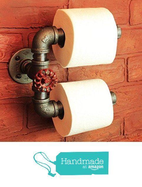 Industrial Pipe Double Roll Toilet Paper Holder, Toilet Roll Holder Industrial Farmhouse Bathroom decor, Bathroom fixture,…