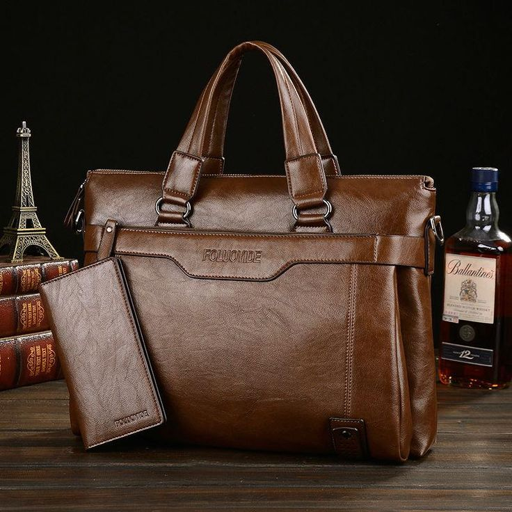 Men's leather briefcases luxury