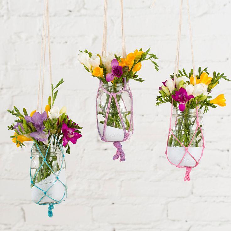 Diy Boho Chic Hanging Macrame Vases