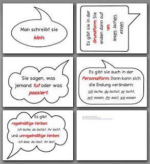 Sonniges Klassenzimmer: Material Verben für die Wortartenwand