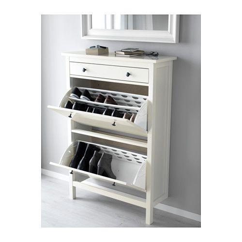 hemnes shoe cabinet with 2 white ikea 100 width 89