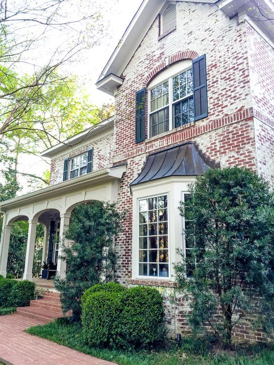 like the look of sand blasted brick exterior on this columbus home carrie