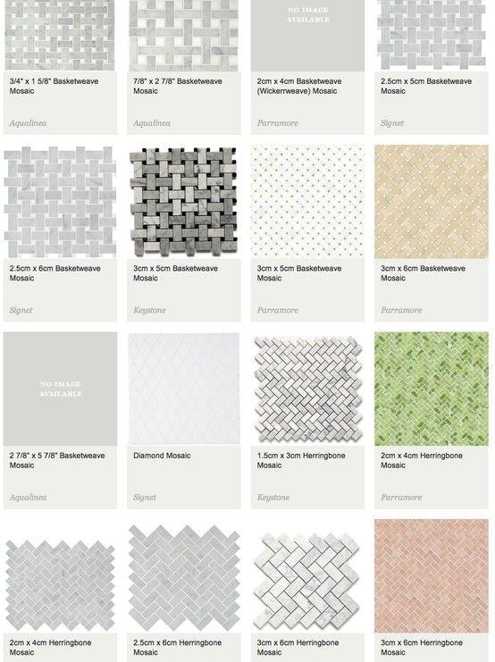 Waterworks - Basketweave & Herringbone Mosaics