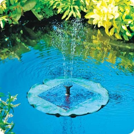 Solar Floating Fountain. cool idea and on sale :): Solar Fountains, Backyard Ponds, Floating Lilies, Water Features, Solar Floating, Outdoor Fountains, Water Fountains, Lilies Fountains, Gardens Fountains