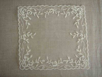 Lace from Caudry, France, where the lace for Kate's wedding gown was made