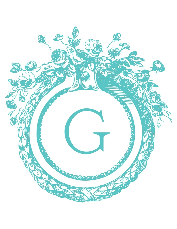 Free printable monograms great for bottle cap jewelry, glass tile jewelry & fridge magnets too! #ecrafty