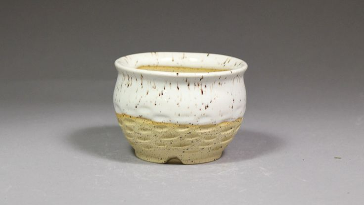 """3.25"""" Hand Carved Mini Orchid Pot by Ashley Keller"""