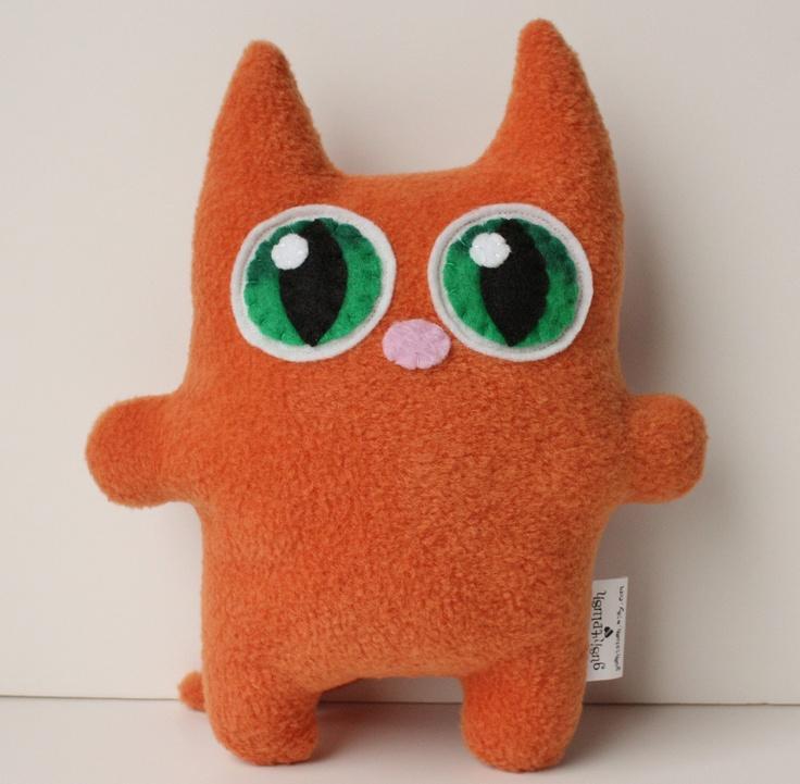 chat en tissu /  Kitty Cat Plush by gush4plush on Etsy