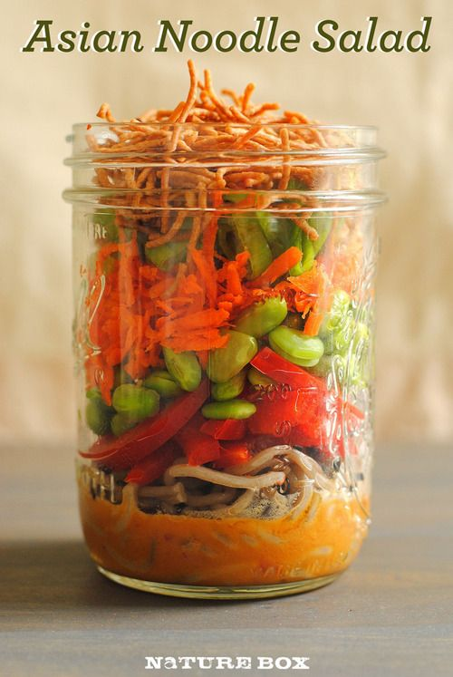 Asian Noodle Layered Salad in a Jar (yum!)