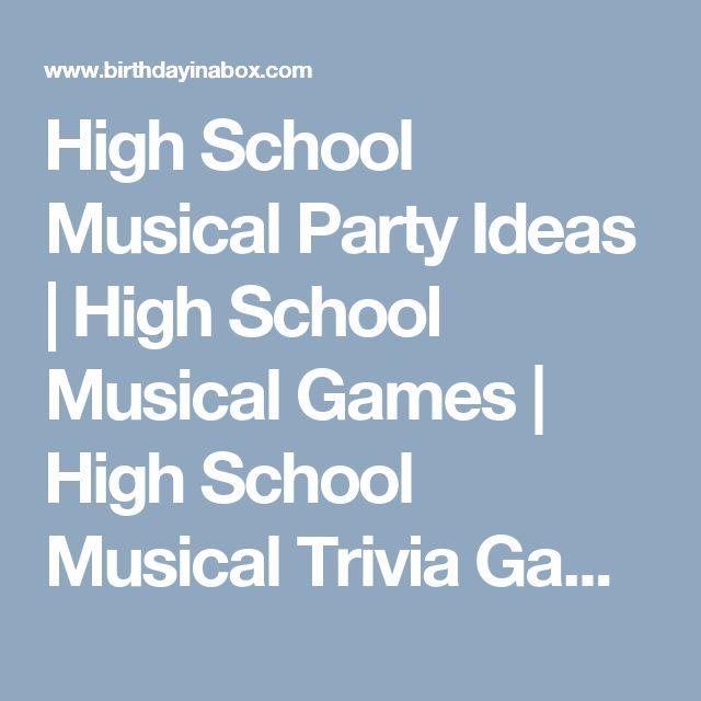 High School Musical Party Ideas | High School Musical Games | High School Musical Trivia Game at Birthday in a Box