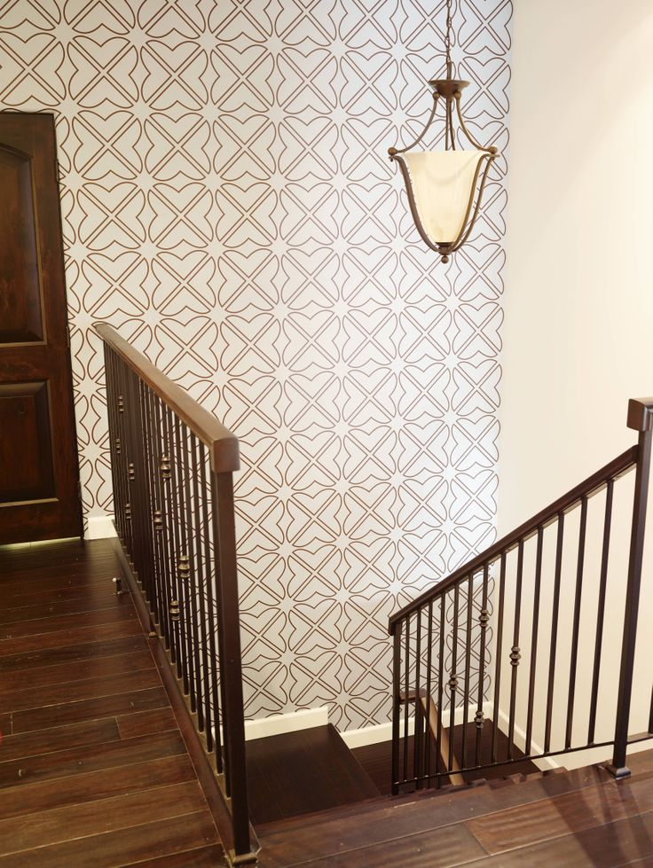 Wallpaper by Aronel, on staircase wall EcoBungalowLA