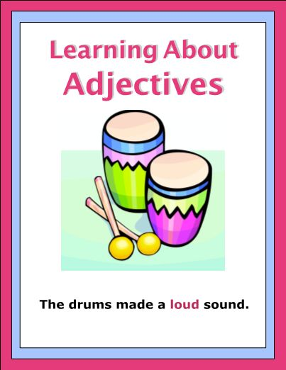 This eWorkbook has 24 pages. Find the adjectives in sentences. Write the adjectives and the word that it describes. Examples are given so the student understands what an adjective and adverb are.