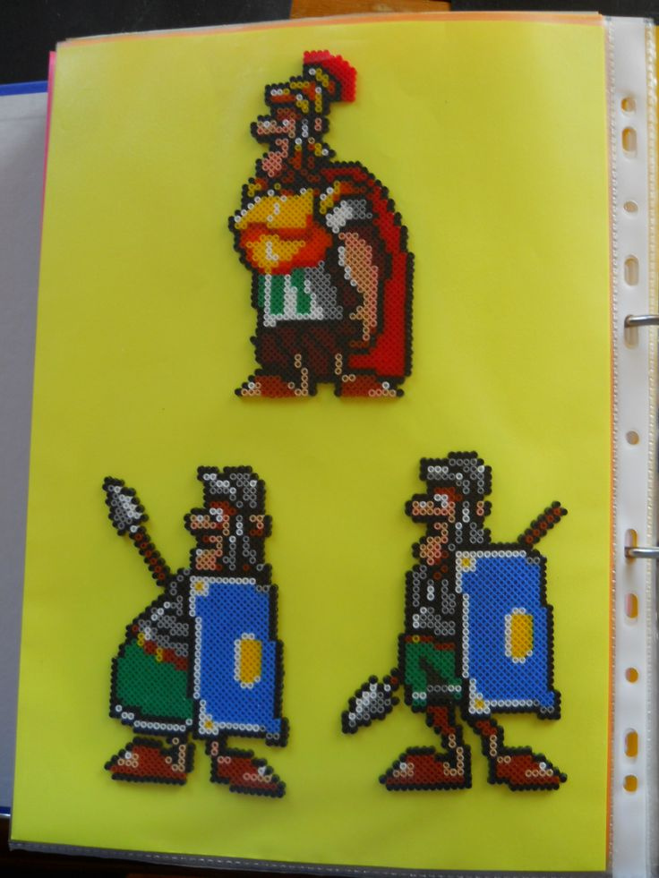sandylandya@outlook.es  Asterix characters hama beads by lise21
