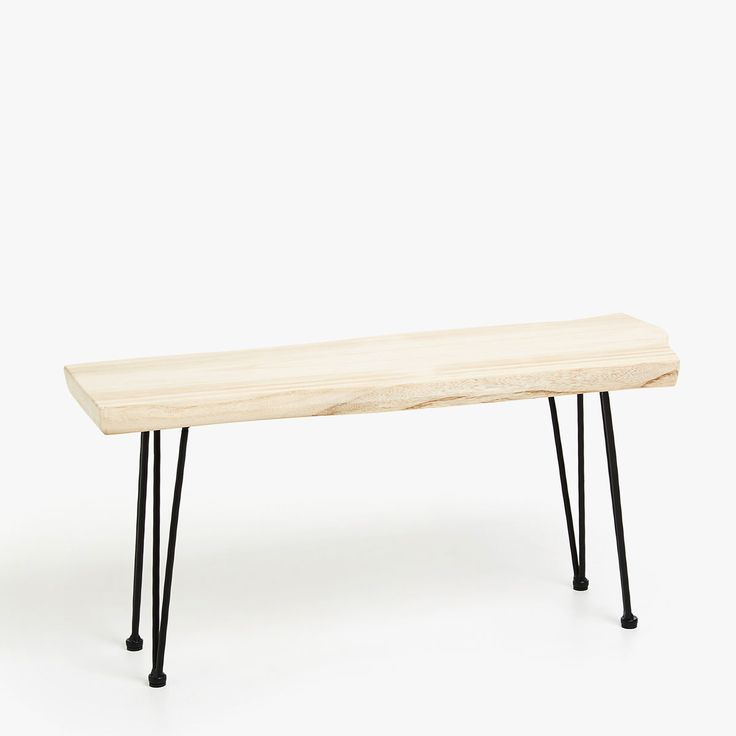 Image 1 of the product BENCH WITH METAL LEGS